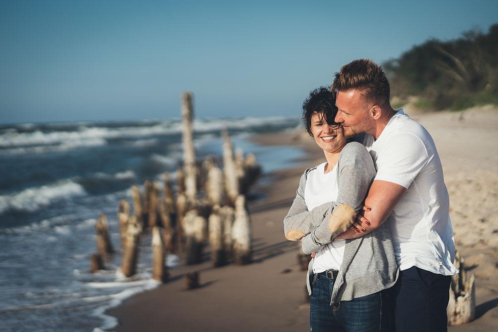 Sesja Narzeczeńska Morze Bałtyckie Para Miłość Fotograf